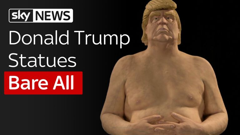 Statues Of Donald Trump Appear In US Cities