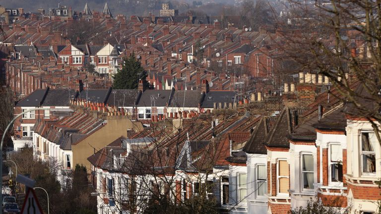 Houses in north London. File picture