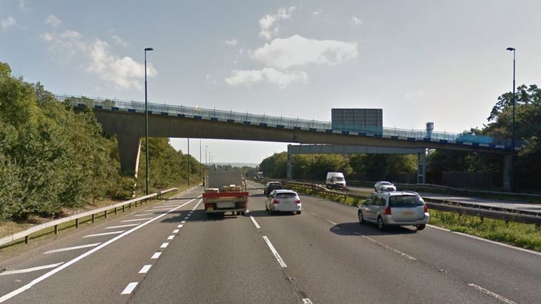 How the bridge looked before it collapsed.  Pic: Google Street View