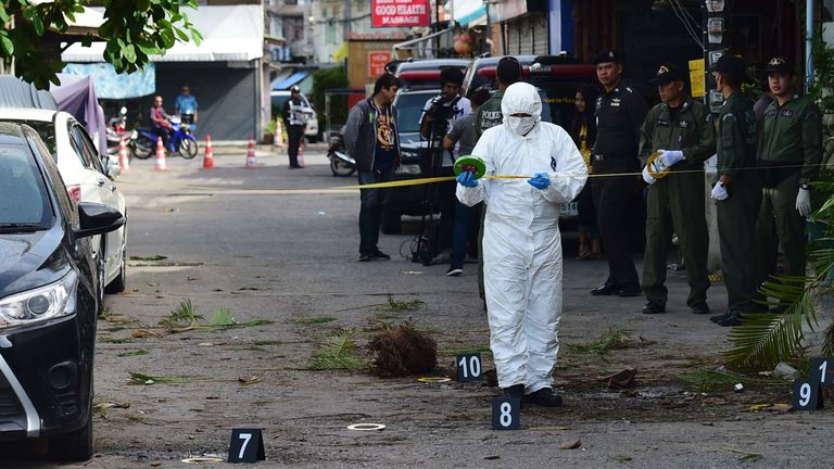 Some of the bombs are reported to have been conceal in plant pots