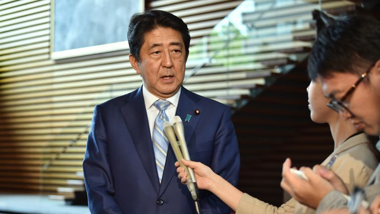 Japan's Prime Minister Shinzo Abehopes his country will lead the field in robotics