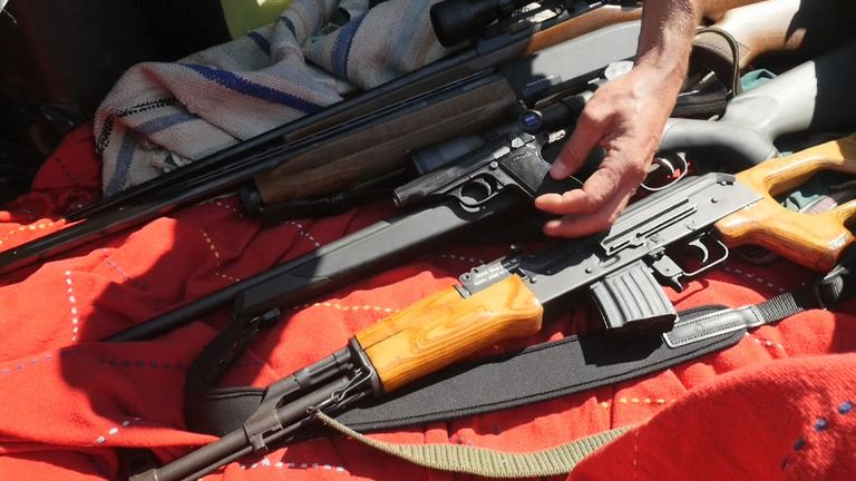 Gang Selling Military-Grade Weapons