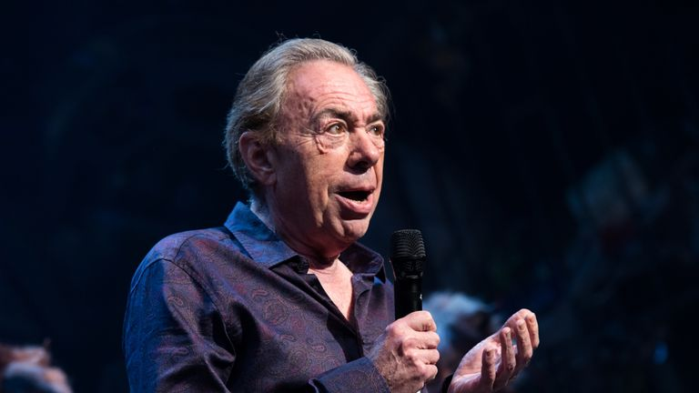 Andrew Lloyd Webber on stage for the first-ever revival of CATS on Broadway