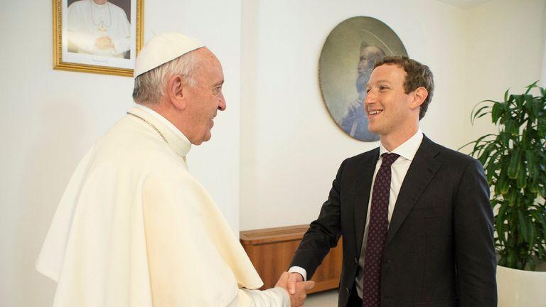 Pope and Mark Zuckerberg meet at Vatican