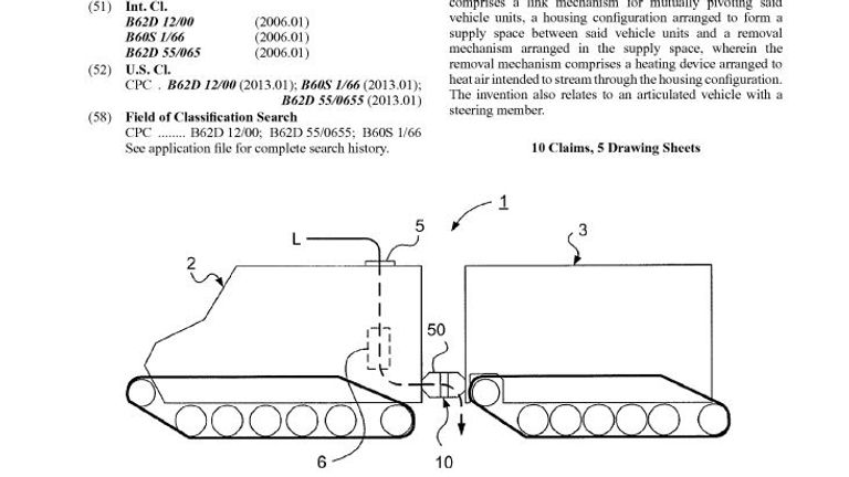 The sketch in the patent papers, which actually belong to BAE Systems