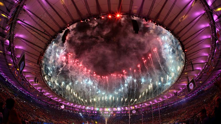 The spectacular ceremony in Rio lasted three hours