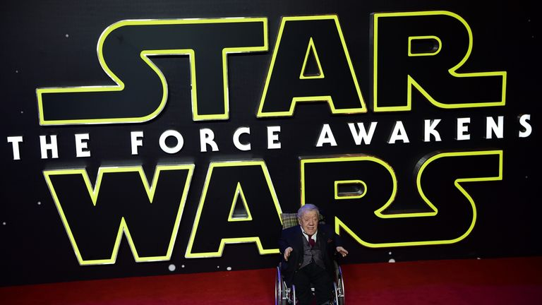 Baker at the European Premiere of the latest Star Wars film in London last year