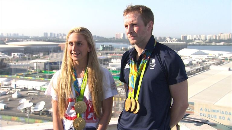 The couple have ten Olympic gold medals between them