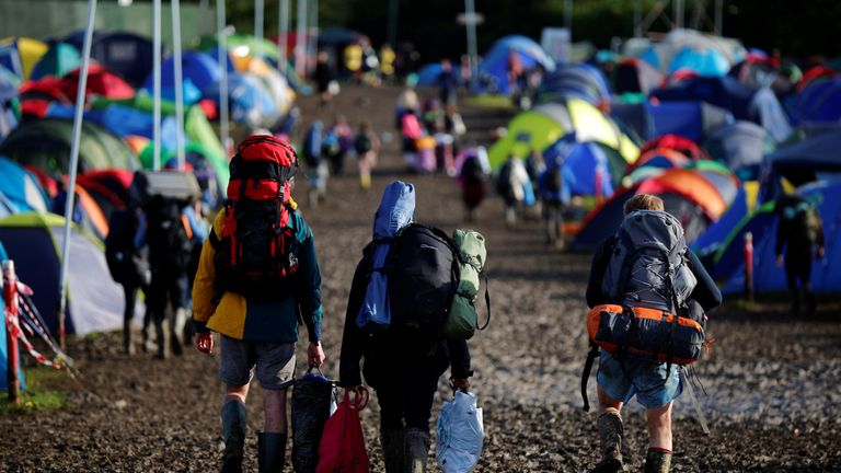 Glastonbury Festival-goers are among those affected by measles