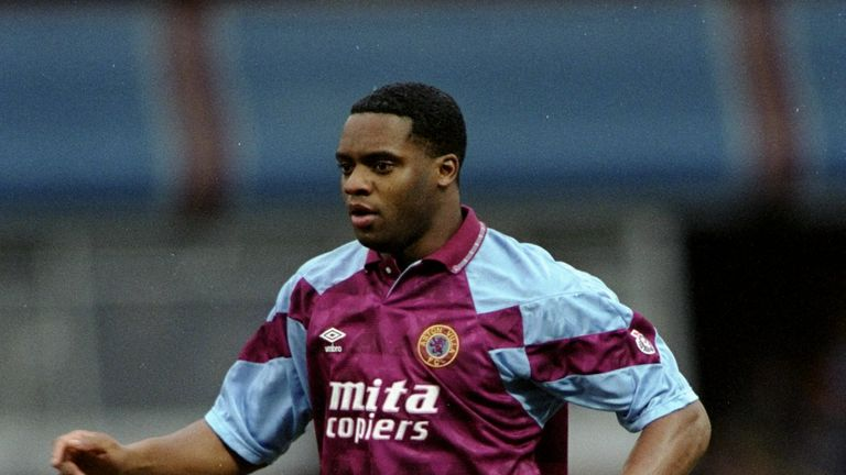 Dalian Atkinson in action for Villa in 1991. Pic: Shaun Botterill/Allsport