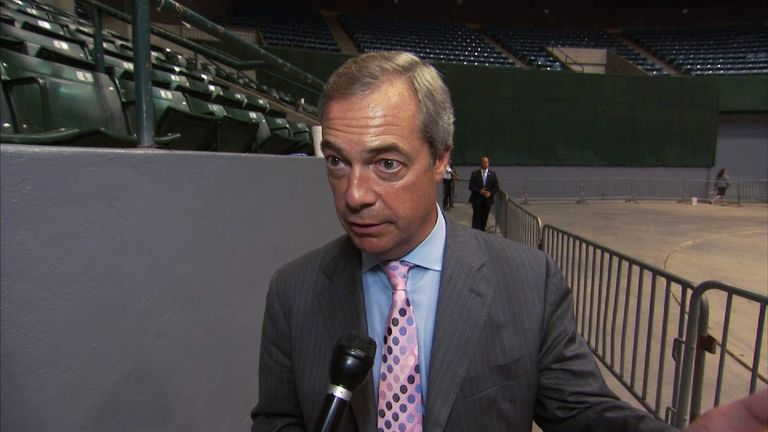Nigel Farage was speaking at a Trump rally in Mississippi