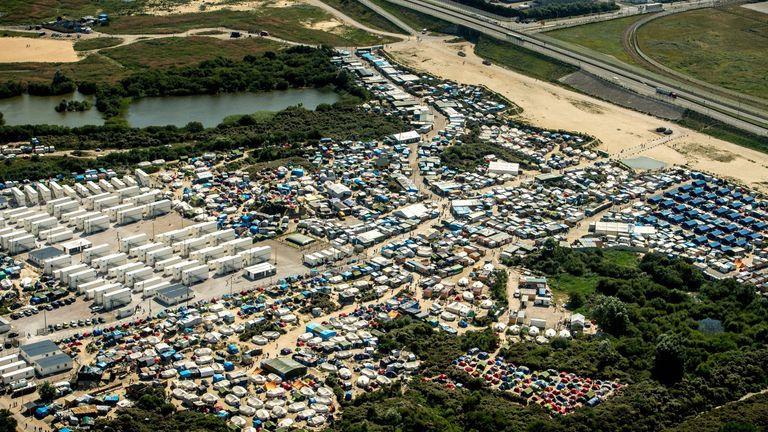 An estimated 9,000 migrants are living in the jungle camp