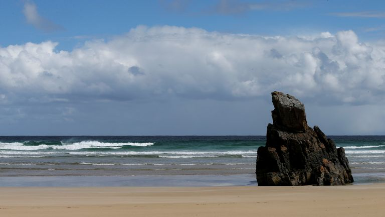 The Isle of Lewis is known for its natural beauty and wildlife. This is Tolsta beach on the north coast