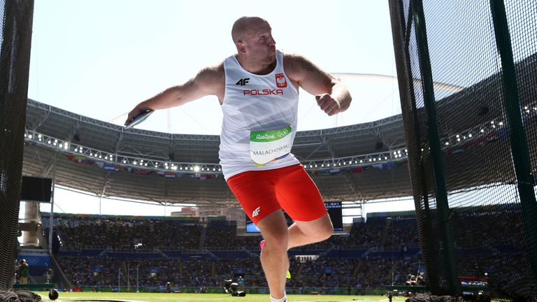 Piotr Malachowski of Poland competes in the Men's Discus Throw Final on Day 8 of the Rio 2016 Olympic Games