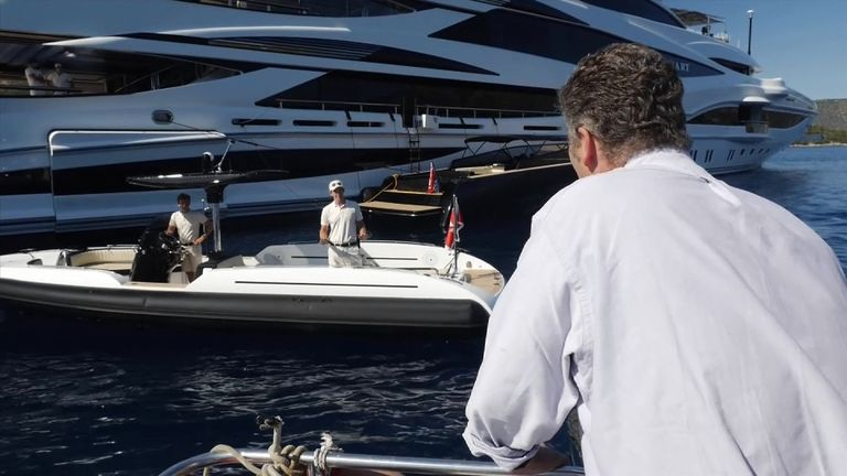 The retail tycoon was aboard his new vessel, Lionheart