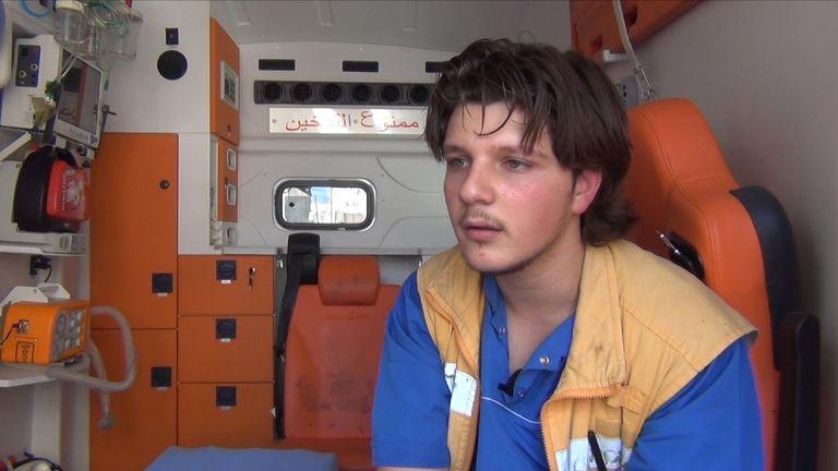 Ammar Hammam was filmed lifting five-year-old Omran into an ambulance