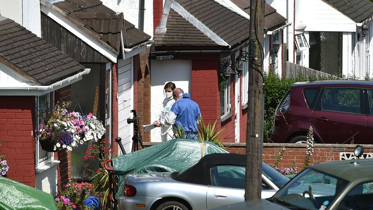 Forensic experts in Meadow Close in Telford