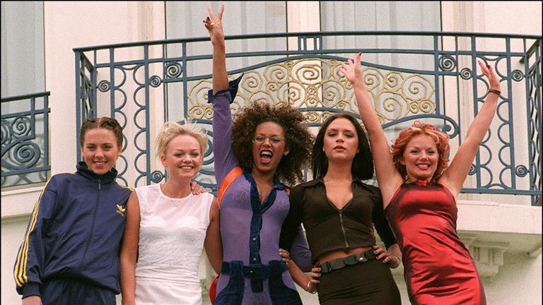 The Spice Girls at the Cannes Film Festival in 1997