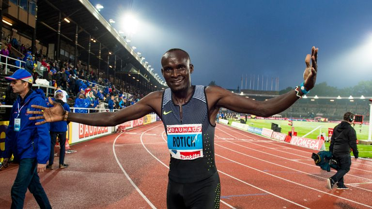 STOCKHOLM, SWEDEN - JUNE 16: Rotich Ferguson Cheruiyot  competes in 800m Men during the IAAF Diamond League meeting on Stockholm stadion on June 16, 2016 i