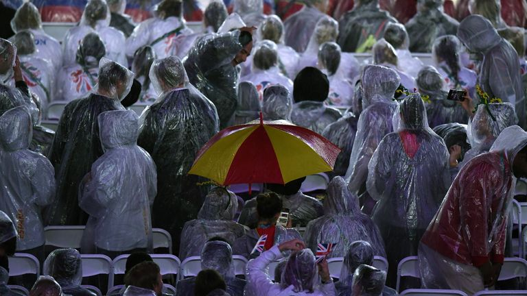 It was a rather wet affair however, with ponchos mandatory