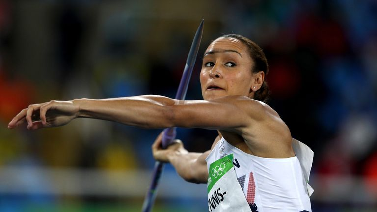 RIO DE JANEIRO, BRAZIL - AUGUST 13:  Jessica Ennis-Hill of Great Britain competes in the Women's Heptathlon Javelin Throw on Day 8 of the Rio 2016 Olympic