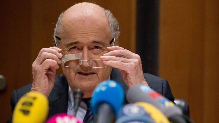 Sepp Blatter has rejected claims he is corrupt