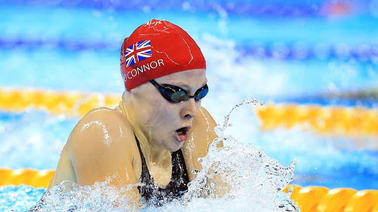Siobhan-Marie O'Connor of Great Britain won silver in the women's 200m individual medley