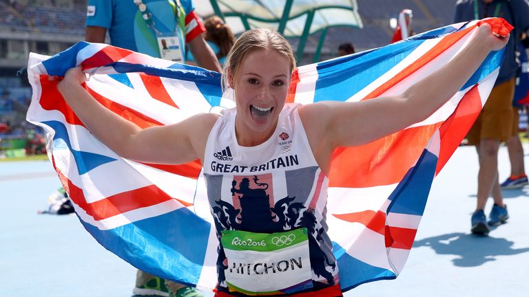 Sophie Hitchon took third in the women's hammer with a throw of 74.54 metres
