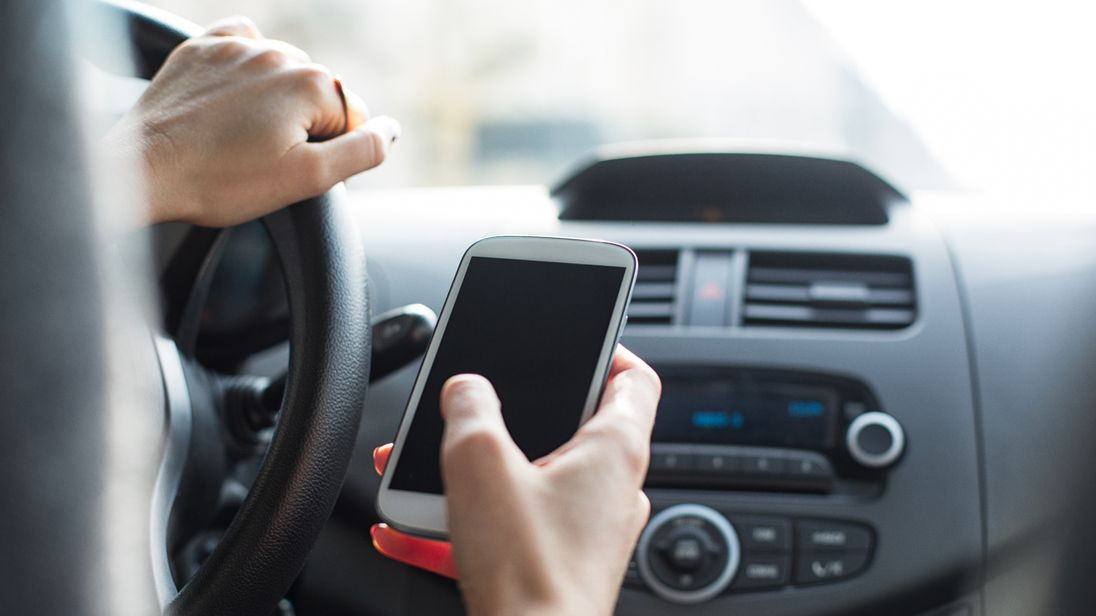 Ministers are considering doubling the punishment for using a mobile phone at the wheel