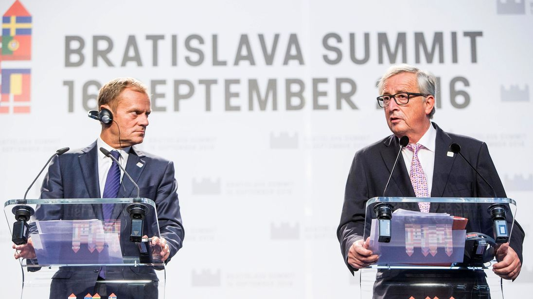 Donald Tusk and Jean-Claude Juncker have been setting out their terms on Brexit talks