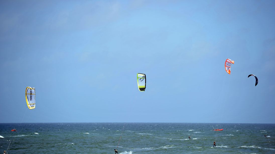 The man was kitesurfing in New Caledonia (Library picture: Getty)