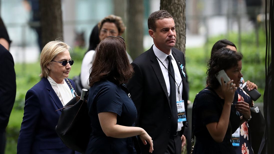 Hillary Clinton at the memorial in New York