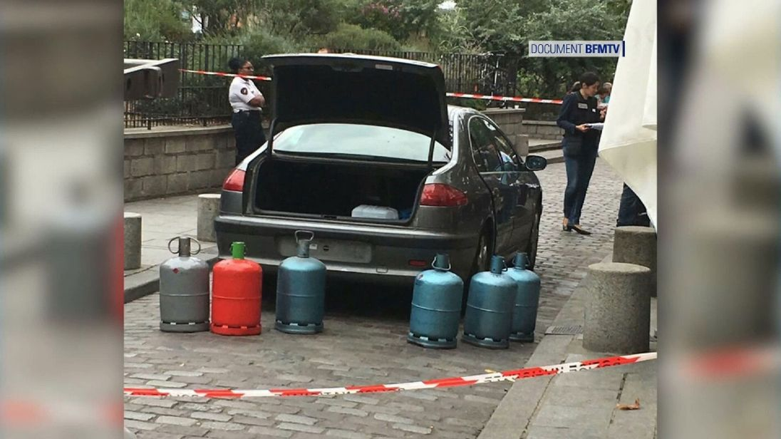 The car with the canisters was found near Notre Dame cathedral