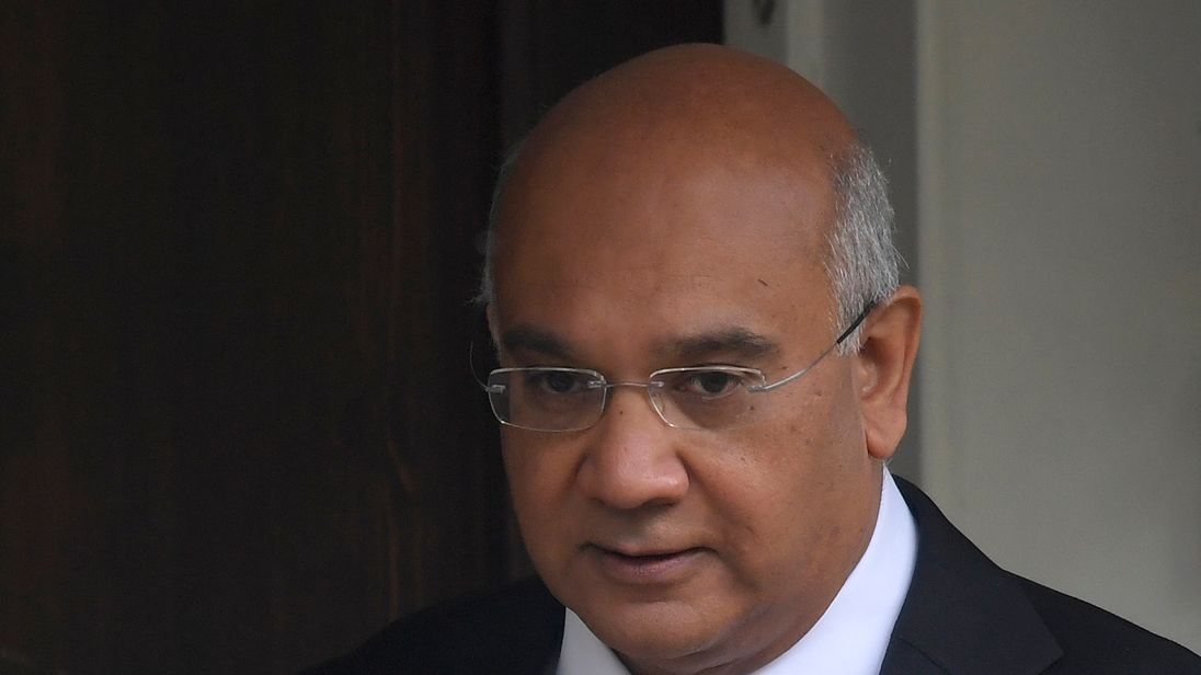 Labour MP Keith Vaz outside his home in northwest London