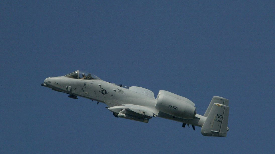 A US air force A-10 aircraft
