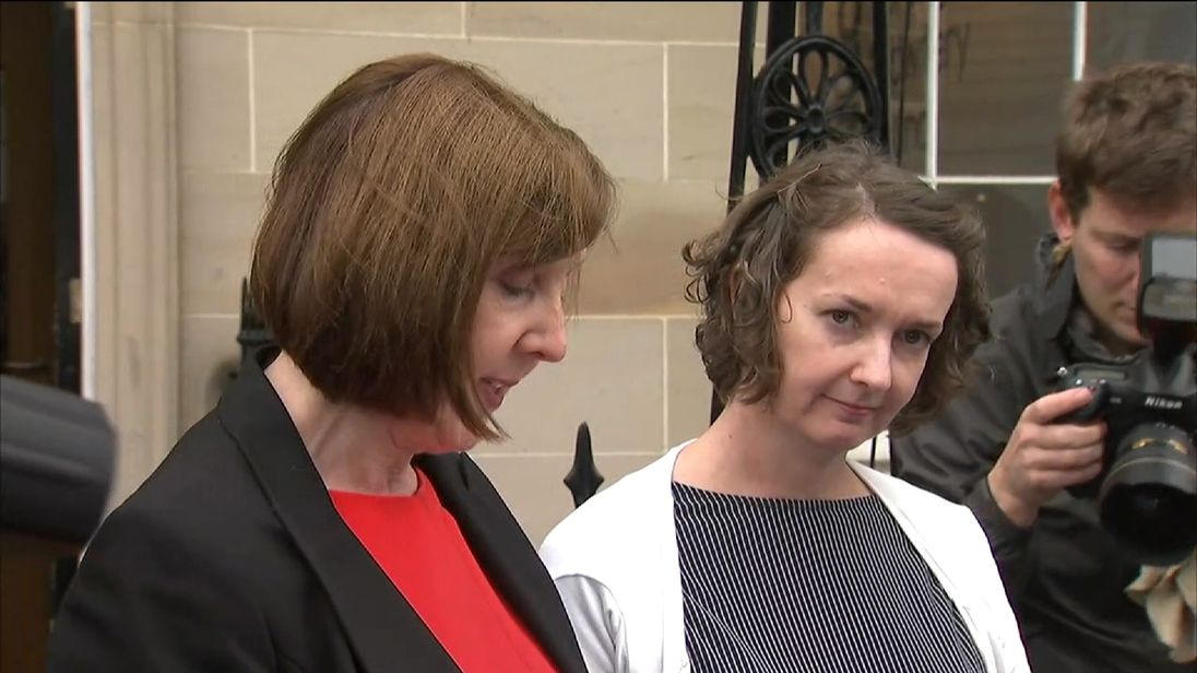 Ebola nurse Paula Cafferkey with her solicitor