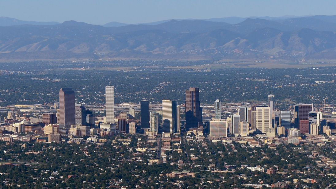 Denver is Colorado's biggest city and is backed by the Rocky Mountains