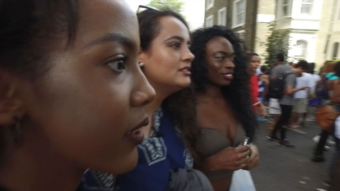Supporters of Black Lives Matter UK