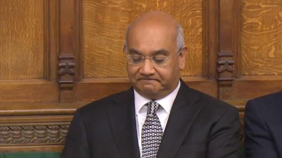 Keith Vaz has apologised to his family for 'hurt and distress'