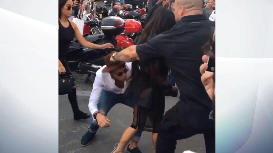 Vitalii Sediuk accosted Kim Kardashian in Paris. Pic: makeupbymario/Instagram