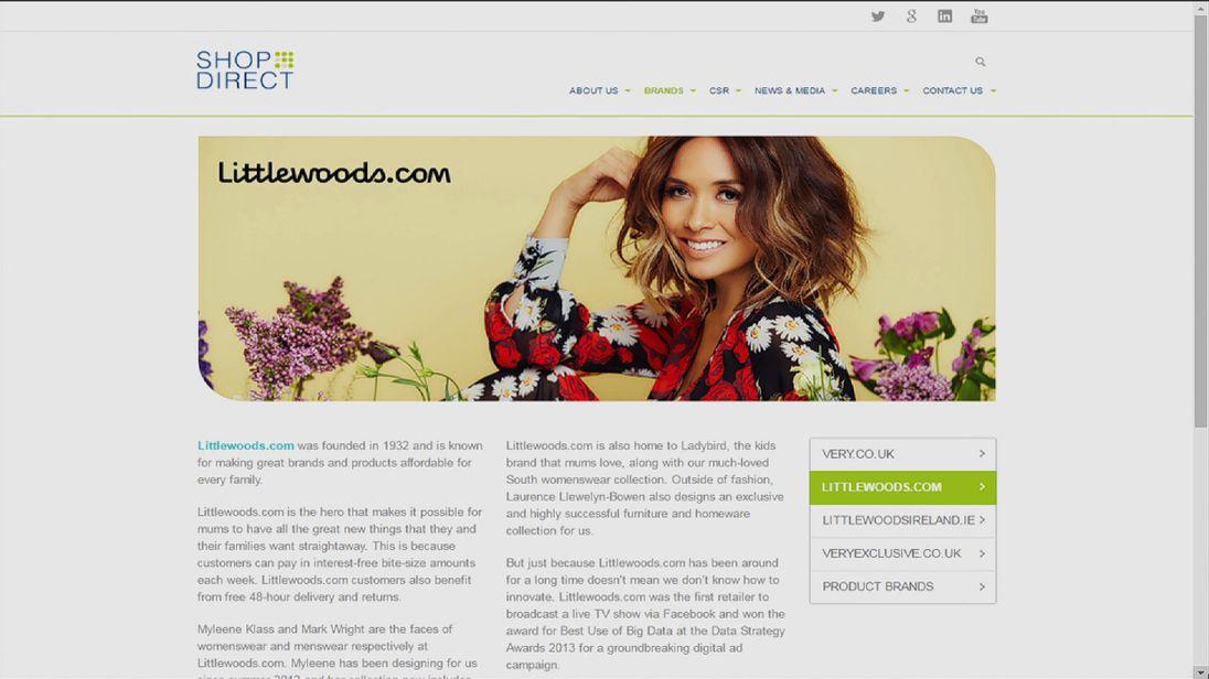 The Littlewoods.com website