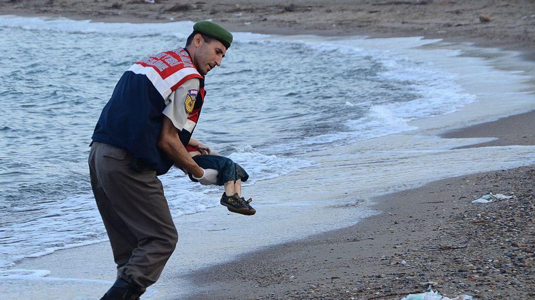 Aylan Kurdi's body washed up on a Turkish beach in 2015