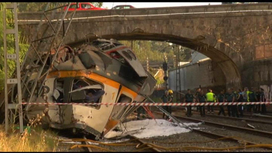 The front of the train was crushed in the collision