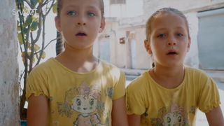 Safa and Marwa live in the town of Talbiseh near Homs