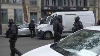 French police on alert in Paris