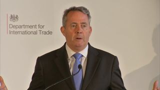 Liam Fox lauded the benefits of free trade
