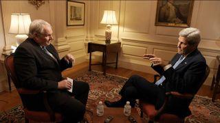 John Kerry was speaking to Sky News' Adam Boulton