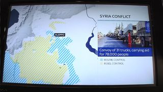 Aid convoy attacked by unknown forces in Syria