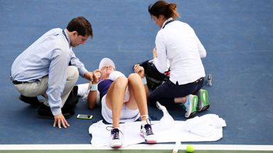 Konta was 'violently shaking'