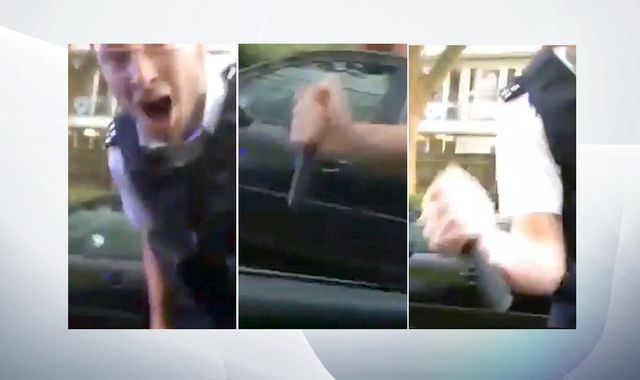 Police officer who smashed man's windscreen guilty of misconduct